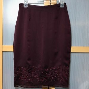 Express Sheer Skirt with Beads/embroidery size 5/6